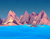 lonely island [Low poly modeling]