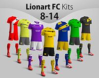 Lionart FC Kits 8-14