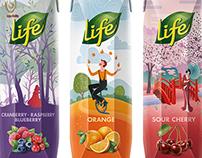 Life juices repackaging