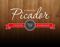 Le bistrot du picador:  Identity & menu
