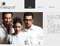 Customique Website (b2b)