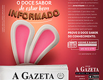 Anúncio Jornal A Gazeta