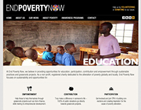 End Poverty Now Concept.