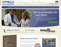 Ozarks Community Hospital Website Design