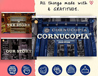 Website design and development - Cornucopia Food Store