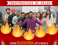 Poster Series for Diwali Meeting of Toastmasters Of Del