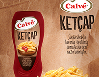 Calve: Ketchup-Mayonnaise -Mustard/Packaging Design