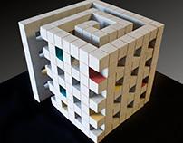 Spiral Cube Sculpture