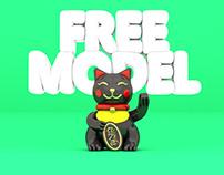 MANEKINEKO // free 3d model