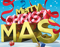 Merry Christmas Flyer and Poster Template