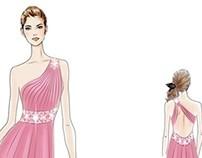 Draw my dreaming dress