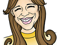 CELEBRITY CARICATURE (Isabelle Charest)