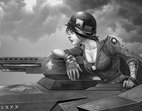 Battle babes - Tank Commander