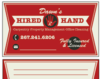 Hired Hand Business Card