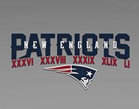 New England Patriots 'XXXVI XXXVIII XXXIX XLIX LI'
