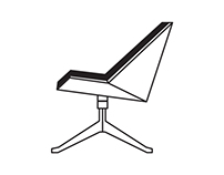BLACK HOLE Swivel lounge chair