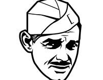 Clark Gable vector portrait.