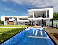 Proposed Lake Front House in Bolgoda, Sri Lanka  -  3D