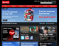 Freeview website, banner and App promotion