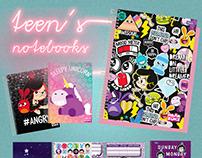 Teen's Notebooks (Hasbro, Universal)