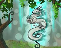 Forest Dragon Illustration