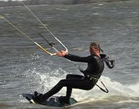 Kite Surfing in Friesland