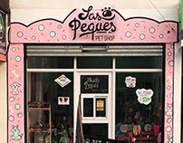 Las Peques Pet Shop   Logo + Local + imanes