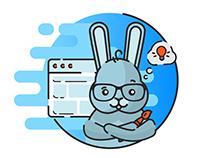 Rabbits -Web Studio Mascots
