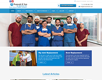 Custom web portal for Doctor. Responsive Website