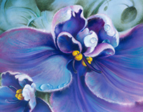 "OIL PAINTING ""The Violet"""