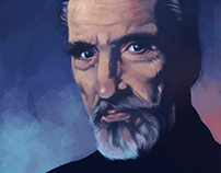 Christopher Lee Portrait + Tutorial