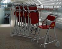 Airplane wheelchair // Silla de ruedas para aviones
