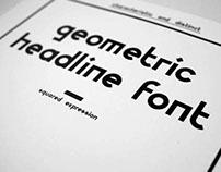Font Design - Geometric Headline Font