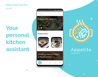 Appetito - Cooking app concept & Landing page