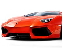 Lamborghini Digital Painting