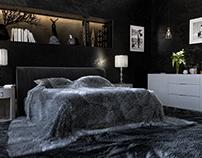 Luxury hunting rooms CGI