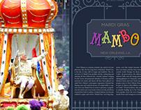 Mardi Gras Magazine Spreads