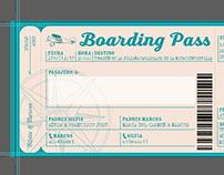 Especial wedding card: boarding pass