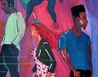 """""""The Club"""" - Acrylic on Canvas 24""""x36"""""""