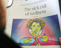 Sunday Times Illustration: Wellness & Narcissism