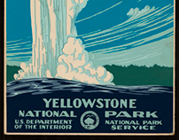 Yellowstone National Park Poster Animation