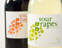 Sour Grapes | wine label + advertising