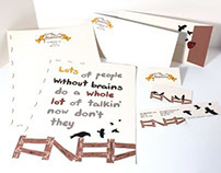 Scarecrow business card, letterhead, envelope