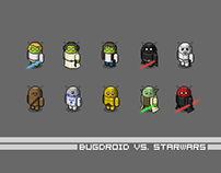 Pixel Bugdroid vs. Star Wars