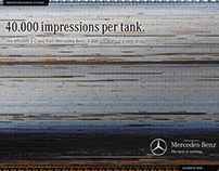 The Mercedes-Benz 1000 km poster