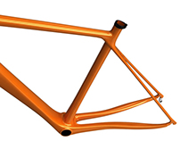 Road bicycle frame design evo