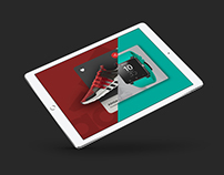 Adidas & Sony Product Card - Interaction Animation