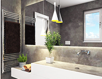 #bathroom #grey #microcret