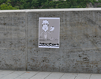 an image on walls in public