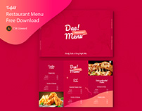 Trifold Restaurant Menu - Free Download